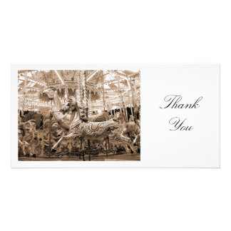 Merry-go-round - Thank You Photo Card Template