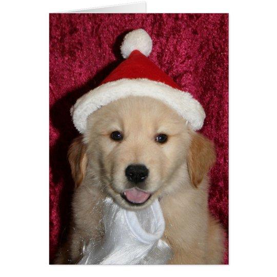 Merry Golden Little Christmas Card