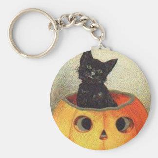Merry halloween basic round button key ring