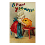 Merry Halloween Wishes Posters