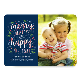 Merry Happy Editable Color Holiday Photo Cards 13 Cm X 18 Cm Invitation Card