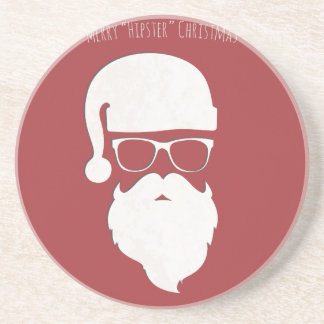 Merry Hipster Christmas Coaster