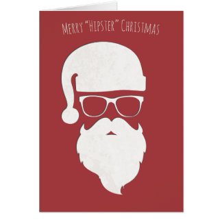Merry Hipster Christmas Greeting Card