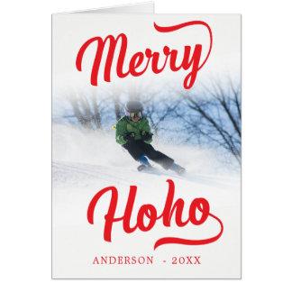 Merry Ho Ho Minimalist Christmas Photo Template