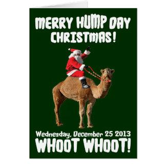 Merry Hump Day Christmas 2013 Santa & Camel Greeting Card