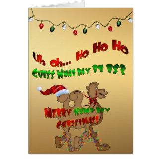 Merry Hump Day Christmas Camel HO HO HO Greeting Card