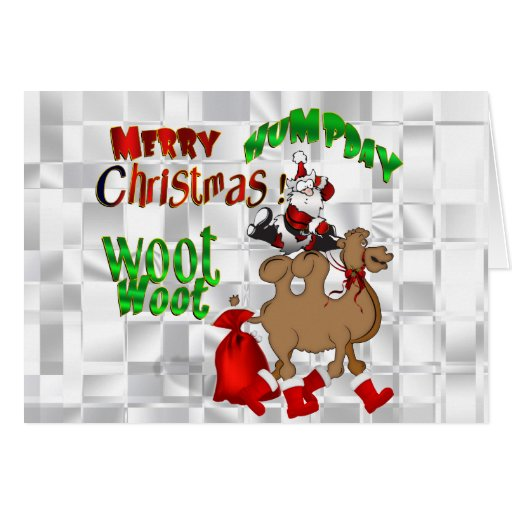 Merry Hump Day Christmas Camel Woot Woot Cards