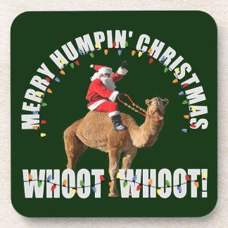 Merry Humpin' Christmas Santa & Camel Drink Coasters