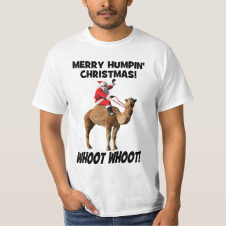Merry Humpin' Christmas Santa & Camel T-shirt
