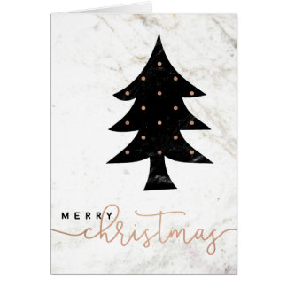 Merry in Marble | Modern Christmas Card
