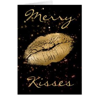 Merry Kisses Christmas Card