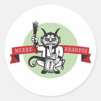 Merry Krampus Classic Round Sticker