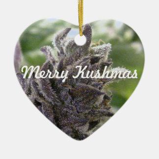 Merry Kushmas Ceramic Ornament
