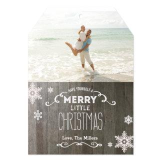 Merry little Christmas 5x7 Tag Photo Card 13 Cm X 18 Cm Invitation Card
