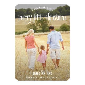 Merry Little Christmas Clean Holiday Photo Card 11 Cm X 16 Cm Invitation Card