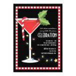 Merry Little Christmas Cocktail Holiday Party 13 Cm X 18 Cm Invitation Card