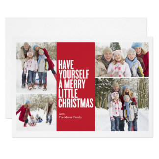 Merry Little Christmas Collage | Red Card