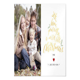 Merry Little Christmas - magnetic photo card Magnetic Invitations
