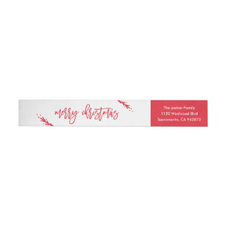 Merry Little Christmas Return Address Label