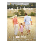 Merry Little Christmas Silver and Gold Photo Card Invite