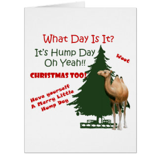 Merry Little Hump Day Christmas Cards
