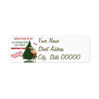 Merry Little Hump Day Christmas Return Address Label