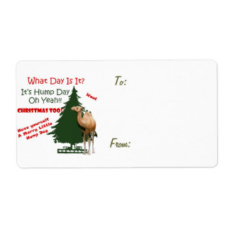Merry Little Hump Day Christmas Shipping Label
