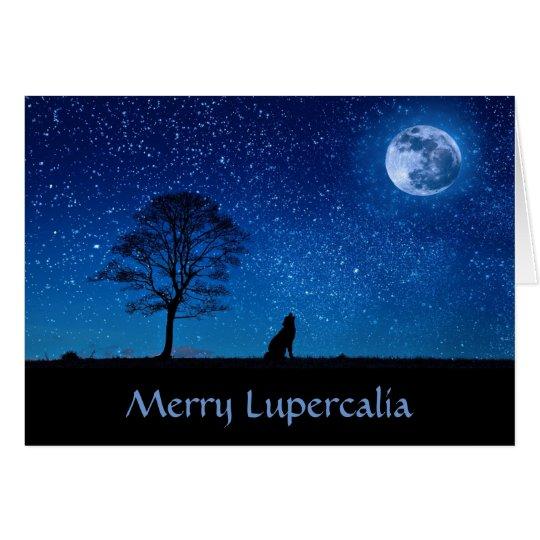 Merry Lupercalia (wolf) Card
