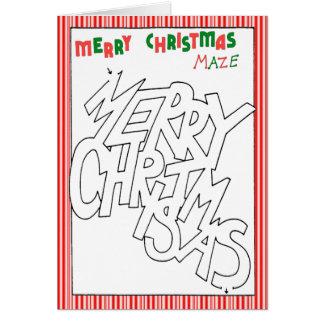 Merry Maze Card