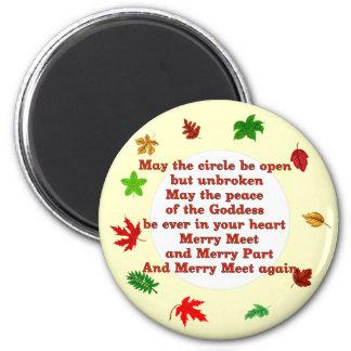 Merry Meet 6 Cm Round Magnet