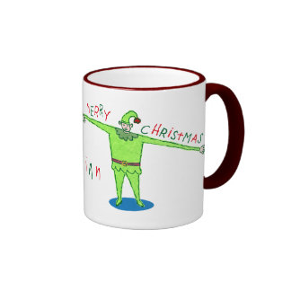 Merry Merry Merry Christmas Elf Mug