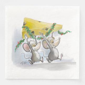 Merry Mice Mic & Mac Holiday Paper Napkin