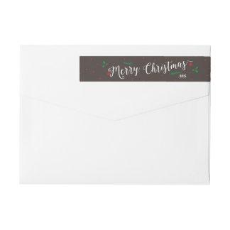 Merry Mistletoe Christmas in Bark Wrap Around Label