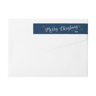 Merry Mistletoe Christmas Wraparound Return Address Label