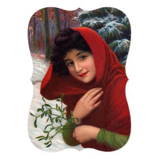 Merry Mistletoe Maiden Invitation