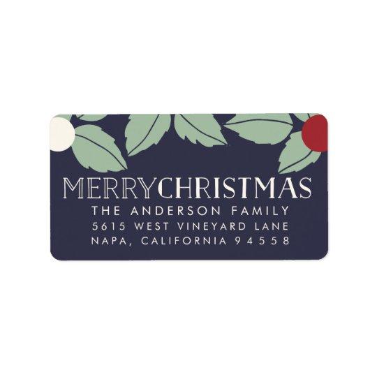 Merry Mistletoe | Oversized Holiday Return Address Label