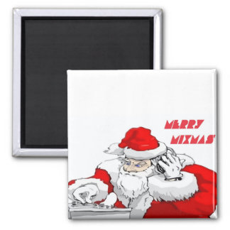 Merry Mixmas Square Magnet
