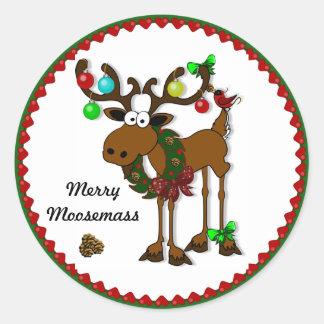 Merry Moosemass Sticker