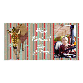 Merry Moses Christmas Stripes Photo Card