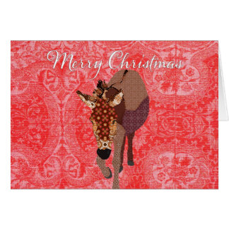 Merry Moses Red Christmas Greeting Card
