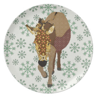 Merry Moses Vintage Green Snowflake Plate