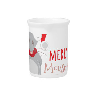 Merry Mouse-mas Beverage Pitcher