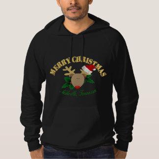 Merry Nashville Christmas Reindeer Mens Hoodie