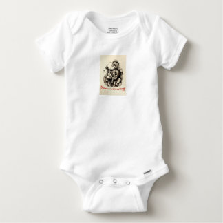 Merry Old Santa Claus Season's Greetings Baby Onesie