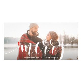 Merry Personalised Photo Card
