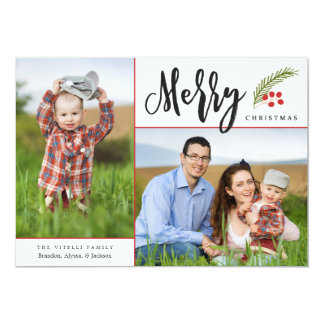 Merry   Photo Holiday Card
