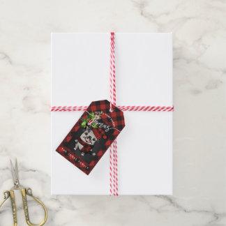 Merry Pigmas Red Buffalo Plaid Gift Tags
