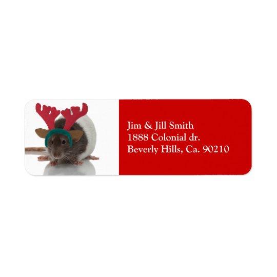 Merry Ratmas Return Address Label