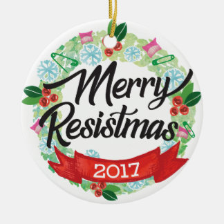 Merry Resistmas Holiday Ornament