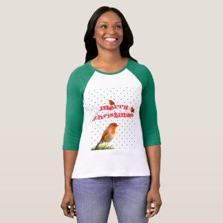 Merry robin Christmas T-Shirt